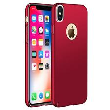 Apple iPhone X 10 Hülle Tasche Case Cover Handy Backcover Handyhülle Rot