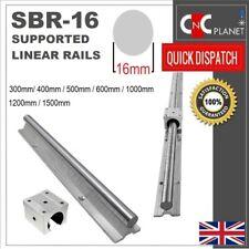 SBR16 SBR Supported Linear shaft Guide Rail Chromed Steel 16mm + SBR16uu Bearing