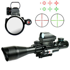 4-12X50 Tactical Rifle Scope R/G Mil-dot with Holographic Sight & Red Laser JG8
