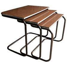 Trio Nest Of Counter Lever Tables Tubular Nesting Tables