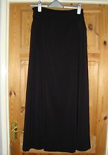 BNWT MAYSAA Ladies Pretty Black Swish Side Panel Maxi Skirt Size 10