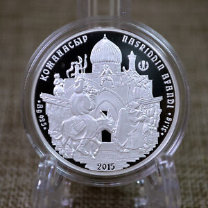 Kazakhstan 2015 1Oz Silver Proof coin 500 tenge Oriental tale Nasreddin Hodja
