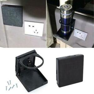 Folding Case Wall Cup Holder Box Universal Car Boat Caravan Accessories 2x Black