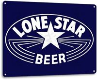 Lone Star Beer Pub Bar Retro Vintage Tin Metal Sign