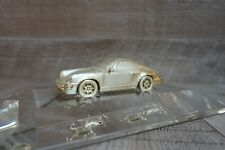 Porsche 911 Carrera 925 silver ornament with display box and stand