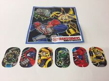 Transformers Kinder Surprise Set of 6 Stickers Set Boys 2017 Mexico Rare