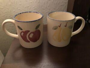Poole Pottery Handpainted Dorset Fruits Coffee/Tea Mugs