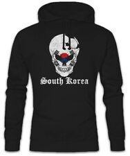 South Korea Football Skull I Hoodie Kapuzenpullover Flagge Südkorea Fußball