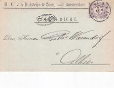 Paesi Bassi 1904 H.C. vanhulsteijn & Zoot Amsterdam cartolina utilizzati in buonissima condizione