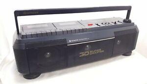 Rare Vintage Hitachi TRK-3D30W Boombox - Non-Working Cassette - Radio Works