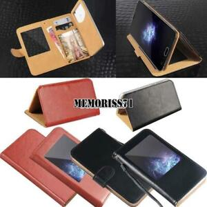 For Various Doogee X Series - Flip View Window Cover Stand Wallet Leather Case
