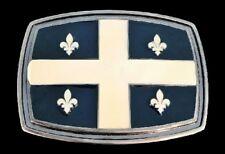 Quebec Flag Fleur de Lis Lys La Belle Province Boucles De Ceinture Belt Buckles