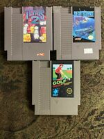 Nintendo Entertainment System NES BUNDLE/LOT TETRIS 2 + Golf + SILENT SERVICE