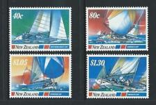 MINT 1987 NEW ZEALAND NZ BLUE WATER CLASSICS YACHT RACES STAMP SET OF 4 MUH