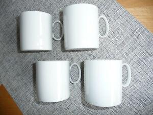 4 Thomas Tassen Medaillon, alte Serie, weiß, max. 200 ml, Porzellan