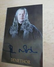 John Noble as Denethor Lord of the Rings Trilogy Auto Card from Topps Chrome