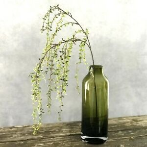 Artificial String of Pearls, Faux Green Trailing Pearls Houseplant Stem Pick