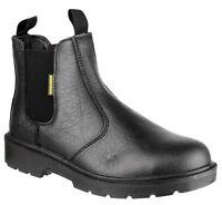 Amblers FS116 Mens Ladies Pull-On Safety Dealer Black Boot |3-15|