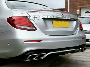 Paintable boot trunk spoiler for Mercedes E class W213 2016+ AMG style OEM fit