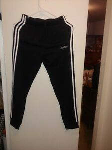 Boys ADIDAS Tapered Sweatpants Drawstring! Black&White Size Medium (10/12) NWOT!