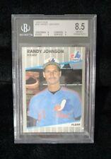 1989 Fleer # 381 Randy Johnson RC Pitcher Marlboro Ad on Scoreboard Beckett 8.5