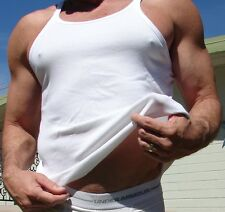 Men's White Emporio Armani Tank Top Muscle Shirt Large Preowned NICE!