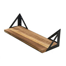 3pcs Wall Mounted Display Rustic Wood Floating Shelves Home Decor For Plant