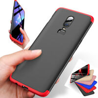 Luxury 3 in 1 Dual Dip Case for OnePlus 6 5T 1+ 6 Knight Armor Matte Hard Cover