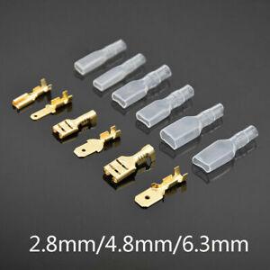 150pcs 2.8/4.8/6.3mm Car Motorcycle Electrical Crimp Wire Connectors Spade Kit