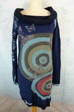 DESIGUAL Robe Taille S/M - Manches longues - Bleue