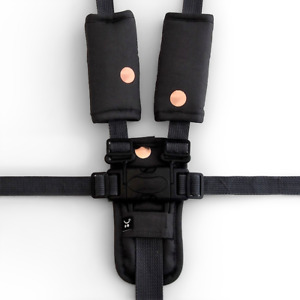 Outlook 3 Piece Harness Cover Strap Charcoal Rose Gold Spot Cotton Baby Comfort