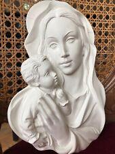 Wandschmuck aus Beton für Fassade wunderschöner Frauenkopf Fassadenstuck