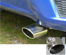 stainless steel For Honda FIT JAZZ 2014 2015 Tail pipe exhaust pipe cover 1pcs