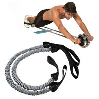 KQ_ 2Pcs Pull Rope Waist Slimming Fitness Resistance Band Abdominal Roller Wheel