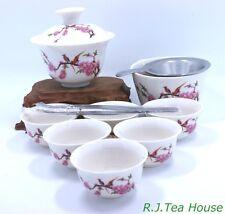 Small Traveller Gongfu Gai Wan with Fair Mug Tea Set-.(Blossom) Free Shipping!!!