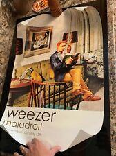 Weezer Rare 2002 Promo Poster of Maladroit Album Unhung 28� x 18.5� Geffen