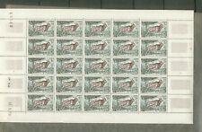 feuille de 25 timbres afrique équatoriale française 1 franc élan de Derby