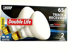 Double life 2pk  Feit Electric 65w Track & Recessed 120v BR30 Flood Light Indoor