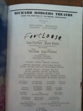 Footloose playbill Broadway 1999 cast signed NYC