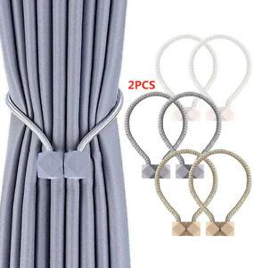2 PCS Magnetic Curtain Tiebacks Decorative Rope Holdbacks for Window Draperies