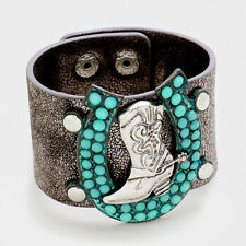 Turquoise Leather Handcrafted Jewellery