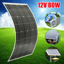 80W Watts 12V Elfeland Flexible Solar Panel + Cable For RV Boat Battery Charger