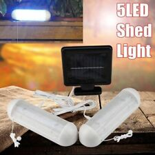 2x 10LED SOLAR POWERED GARDEN SHED GARAGE STABLE LIGHT RECHARGEABLE TWIN PACK