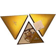 Swarovski 2012 Gold Tone Christmas Star / Snowflake, Mint w box & triangle paper