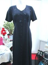 """""""british home stores"""" sz 18 navy dress with embroidered flowers"""