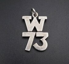"Retired James Avery Sterling Silver Camp Waldemar Year 1973 W73 Charm 1"" CHS746"