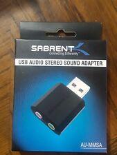 Sabrent USB External Audio Stereo Sound Adapter Windows, Mac Plug n play AU-MMSA