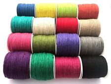 Natural Hemp Cord,Jute cord, Twine, 2mm - choice of colours and metres (B4)
