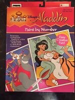 Disney's Aladdin Paint By Number 1992 NEW In Box By RoseArt