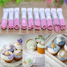 10Pcs Plastic Cake Fondant Embossed Crimpers Mold Baking Utensil Decorating Tool